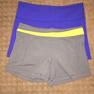 2 Pair Fitted Lululemon Shorts